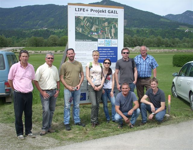 Delegation aus Serbien besucht Life-Projekt an der Gail